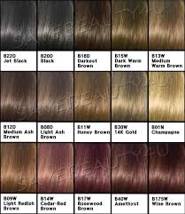 Loreal Preference Hair Color Chart Colors Into Most