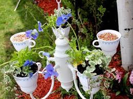 diy tea cup chandelier planter