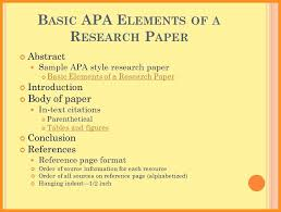 Basic Apa Style Apa Format Parts Research Paper Coursework Writing Service