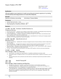 Useful Property Tax Accountant Resume With Cpa Sample Resume