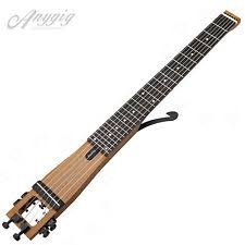 electric guitars anygig agn 6 string full scale left handed traveler portable soild guitar brown