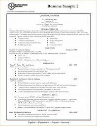 Sample Resume Format For Fresh Graduates Two Page 22 Curriculum