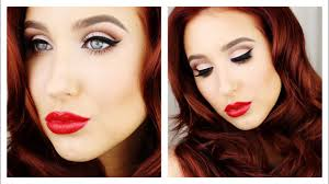 old hollywood glam makeup hair tutorial jaclyn hill you
