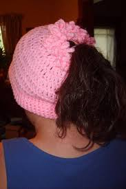 Ponytail Beanie Crochet Pattern Unique Suzies Stuff PONYTAIL CAP