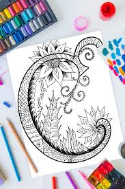 Letter b coloring pages coloring letters easter coloring pages printable coloring sheets mandala coloring pages coloring pages to print animal coloring pages coloring pages for kids coloring books. Zentangle Letter C Design Free Printable Kids Activities Blog