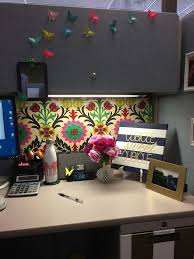 office cubicle decoration. Modren Office Also Love The Origami Butterflies From Post Its  Cubicle Makeover  Pinterest Fabric Covered U2026 With Office Decoration O