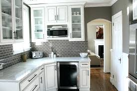 backsplash with white cabinets simple gray tile kitchen backsplash ideas white cabinets black countertops
