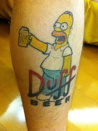 Duff Beer Homer Tattoo I Got To Get Me One Of These Inspiring