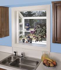 ... Interesting Garden Windows For Kitchen Garden Window Replacement Fresh  Blue Kitchen: extraordinary Garden ...