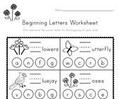 I suggest printing this kindergarten phonics activities in color and on cardstock or laminating for durability. Beginning Sounds Worksheets All Kids Network