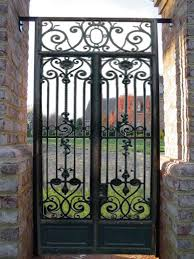 Solid Metal Gate With Curled Ironwork Detail This Reminds Me Of ...