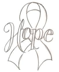 Small Picture Hope Scroll Cancer Ribbon Tattoo Stencil By Metacharisjpg 655