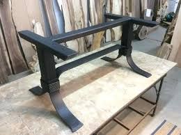 black metal dining table inch tall steel base legs flat round