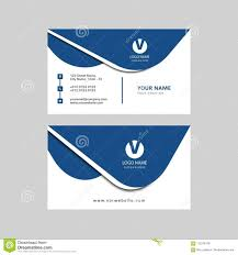 Simple Modern Professional Creative Business Card Design Stock