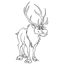 Sven Het Eland Coloring Pages For Kids