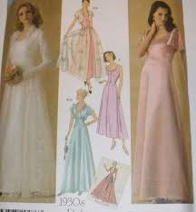 Prom Dress Sewing Patterns Extraordinary Vintage Retro 48s Simplicity Sewing Pattern 48 Evening Bridal Gown