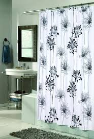black and white shower curtains fabric 1 vertical striped