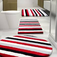 bathroom bathroom winning red sets rug set photogiraffe astounding bathroom bath white black and red