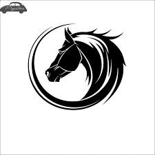 Cheap Horse Posters Pegatina Horse Riding Sticker Rear Glass Decal Posters Vinyl Wall Decals Quadro Parede Decor Mural Animal Sticker Decal Sticker Stickers
