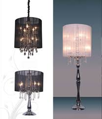 kitchen gorgeous black shaded chandelier 24 crystalr table lamp pink style lamps for marvelous black shaded