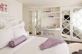 Beautiful Illumination in Your Bedroom Using Mirrored French Closet