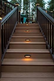 lighting for decks. TimberTech Riser Lights Will Help Lead You Safely To Your Home From Backyard, Deck Lighting For Decks D