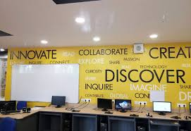office wall. Custom Text - Chandigarh Office Wall