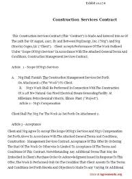 Sample Construction Contract Construction Contract Template Pdf Free Construction Contract