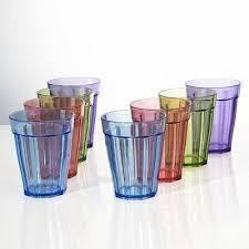 8 pc unbreakable plastic kids juice cup drinking glasses tumblers 8 oz cups set 5