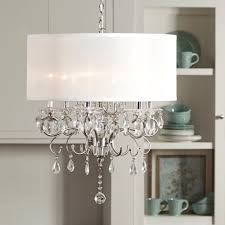 Chandeliers Design : Magnificent Endearing Silver Mist Hanging Crystal Drum  Shade Chandelier By Inspire Q With Additional Of Otbsiu Nursery Light Extra  ...