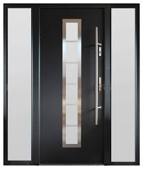 modern entry door with sidelites gray finish contemporary front doors by ville doors