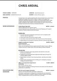 Logistics Management Resume Transportation Logistics Resume Samples From Real