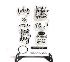 Inspirational Quotes For Today Best Inspirational Quotes Stamp Today Clear Transparent Stamp Etsy