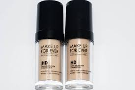 make up for ever hd foundation 117 vs 120