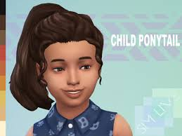 the sims resource child high ponytail