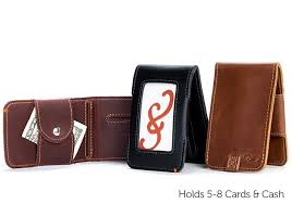 folding money clip wallet