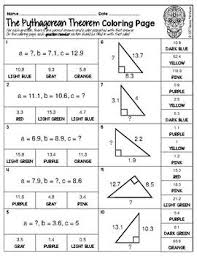 Record your score out of 13. Pythagorean Theorem Math Color By Number Or Quiz Pythagorean Theorem Math Formulas Math Coloring