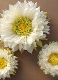 Daisy Paper Flower Set Of 3 Large Tissue Paper Flowers Daisy