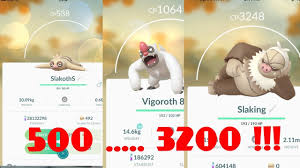 Pokemon Go Evolve Slakoth 500 Cp Vigoroth Slaking
