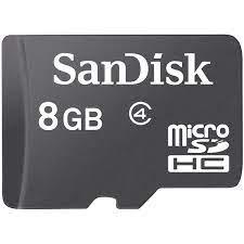Thẻ Nhớ Sandisk Micro SD 8GB Class 4 - Hàng Chính Hãng