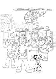 Small Picture Fireman Sam and All Fontypandy Fire Station Officer Colouring Page