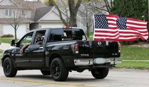 Truck flag people - why do you do this and what message are trying ...