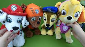Paw Patrol Deluxe Lights And Sounds Plush Real Talking Rubble Paw Patrol Toys Deluxe Lights And Sounds Chase Talking Tracker Skye Plush Zuma Marshall Rubble Toys