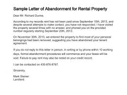 Rental Lease Letters Letter Of Abandonment