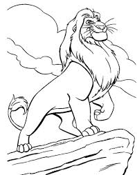 Small Picture Mufasa Coloring Pages fablesfromthefriendscom