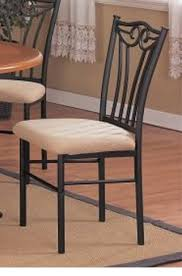 metal dining chairs.  Dining 2 Two Decorative Black Metal Dining Chairs With Padded Seats T