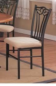 black metal dining chairs. Modren Metal 2 Two Decorative Black Metal Dining Chairs With Padded Seats In M