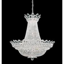 trilliane 53 light crystal chandelier in silver with clear spectra crystal