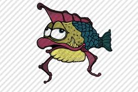 Hand-Drawn cartoon alien fish by Aaron Goodson   Alien fish, How to draw  hands, Game art