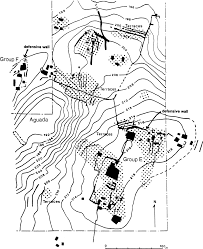 Figure 3 40 internal boundaries in a maya city state partial map of petexbatun showing rural farms with wall and terrace systems